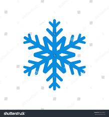 snowflake icon blue silhouette snow flake stock illustration
