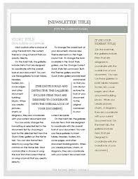 free newsletter template u2013 microsoft word newsletter template