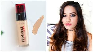 i tried the l oreal infallible foundation and here is the review
