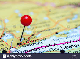 A Map Of Canada by Oshawa Pinned On A Map Of Canada Stock Photo Royalty Free Image