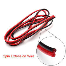 50m lot 22agw 2pin soldering welding wire black red connecting