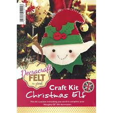 decracraft tree decoration felt kit sew essential
