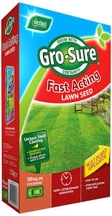 gro sure fast acting grass lawn seed 50 sq m 1 5 kg amazon co