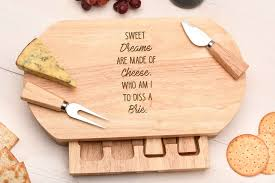 personalized cheese board set sweet dreams cheese board original monkey gifts