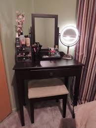 Bedroom Vanity Table With Drawers Bedroom Vanity 3 Pc Makeup Table Mirror Stool Set With Storage