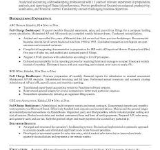 Sample Resume For Bookkeeper by Cool Design Ideas Bookkeeping Resume 8 Bookkeeping Resume Samples