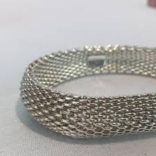 bracelet mesh images Tiffany co somerset mesh bracelet bangle the couture exchange jpg
