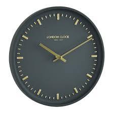 silent wall clocks buy arto charcoal silent wall clock 25cm online purely wall clocks