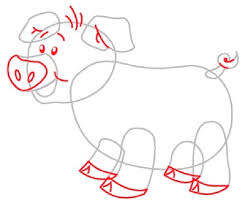 learn to draw how to draw a pig