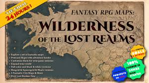 Raven Maps Fantasy Rpg Maps The Wilderness Of The Lost Realms By Tin Raven
