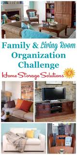 organizing living room u0026 family room challenge