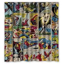 Amazon Com Shower Curtains - marvel comics the avengers iron man hulk shower curtain 66