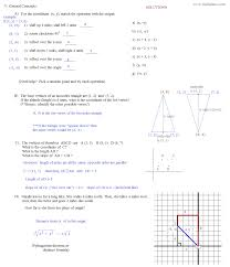 transformations geometry worksheets free worksheets library