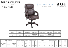 Ergonomic Office Chairs Dimension Barcalounger Titan Ii Home Office Desk Chair Recliner Leather