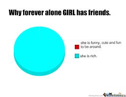 Forever Alone Girl Meme - forever alone girl has friends by victoriousrocks meme center