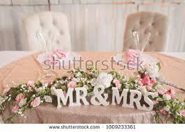 bride and groom sweetheart table bride groom sweetheart table wedding reception stock photo edit now
