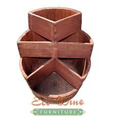 wine barrel furniture planter