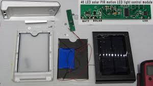 Led Solar Security Light With Motion Detector by Onstate 122 Disassembly Teardown 46 Led Solar Pir Motion Sensor