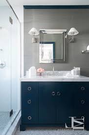 Navy Blue Bathroom Vanity Blue Bathroom Vanity With Gold Hardware Transitional Bathroom