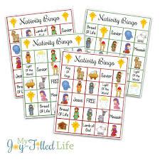 printable nativity bingo game my joy filled life