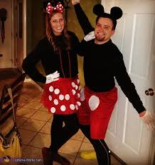 Minnie Mouse Halloween Costume Adults Mickey Minnie Mouse Couple U0027s Costume Minnie Mouse Halloween