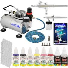 complete professional 2 airbrush nail kit w g25 u0026 s68 airbrushes