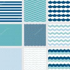 stripe navy blue wave zig zag pattern fish scale pattern and