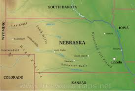 colorado physical map physical map of nebraska