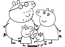 peppa pig coloring pages a4 coloring peppa pig coloring pages printable pdf