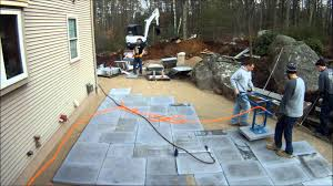 patio stone pavers best way to lay large paving slabs youtube