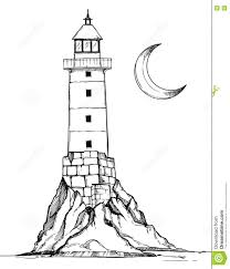 drawn lighthouse hand drawn pencil and in color drawn lighthouse
