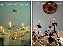 Painted Chandelier Updating My Chandelierhome Stories