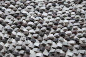 White And Black Area Rug Mats Inc Wool Felt Hand Tufted Gray White Area Rug Wayfair