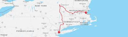 Map East Coast Rides Red Nose Day