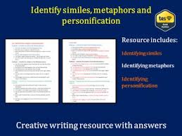 identify similes metaphors and personification with answers by