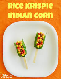 thanksgiving indian corn rice krispies treats kitchen with