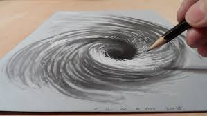 drawing 3d vortex how to draw hole illusion 3d trick art on paper you