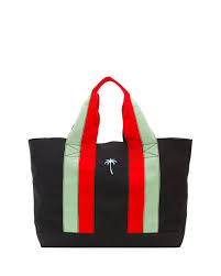 tomas maier palm tree canvas tote bag