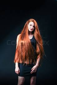 beauty ginger portrait healthy long red hair beautiful