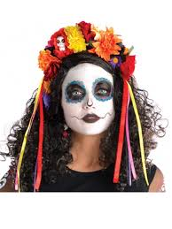 day of the dead headband deluxe day of the dead headband 843936 55 fancy dress