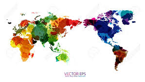 World Map Art World Map Watercolor Vector Illustration Royalty Free Cliparts
