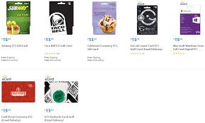 15 gift cards walmart amex offer 33 starbucks and subway gift cards