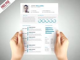 Resume Elegant Resume Templates by Clean And Elegant Resume Template Free Psd Psdfreebies Com