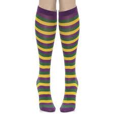 mardi gras socks s purple yellow green striped mardi gras socks walmart
