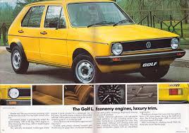 old volkswagen yellow ausmotive com volkswagen golf brochure u2013 1980