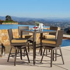 madrid 5pc bar height dining collection mission hills furniture