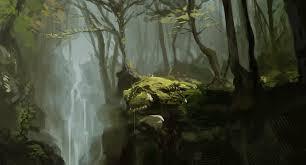 forest sketch by samtheconceptartist on deviantart