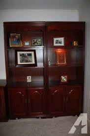 cherry colonial queen anne style lighted bookcase single for