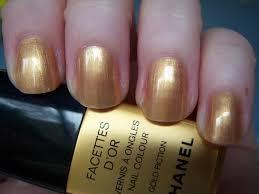 chanel facettes d u0027or gold fiction nail colour reviews photos