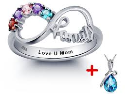 mothers infinity ring custom ring for infinity rings unique s day gift free